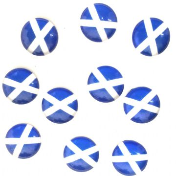 12mm Flat Scottish flag - Saltire flag cabouchon  glass flat backs10 pieces